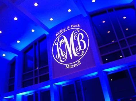 Monogram Lighting by Make A Statement With Monogram Gobo Projection
