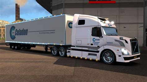 volvo trailer dc celadon volvo vnl 670 trailer skin pack 01
