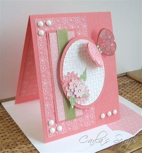 Handmade Card Techniques - handmade card from carla s scraps layered embossing