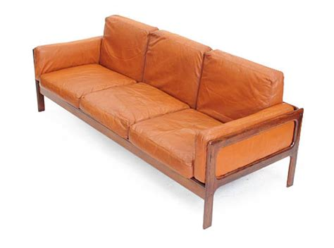 orange and brown sofa rosewood leather 3 seat sofa orange and brown