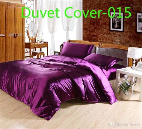 Purple And Gold Duvet Cover by 2019 Luxury Purple Satin Silk Duvet Cover Quilt Cover