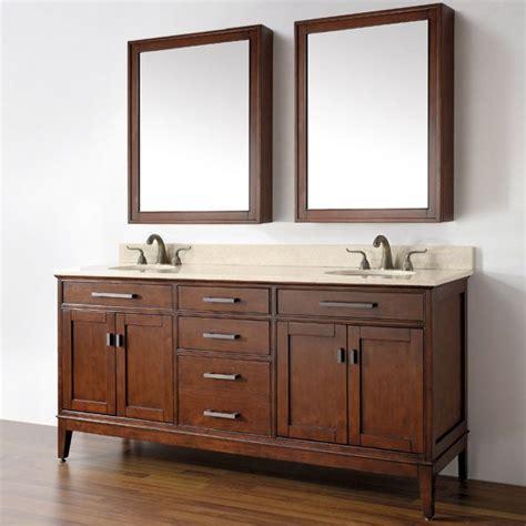 Avanity MADISON VS72 TO Bathroom Vanity, Carrera White Marble