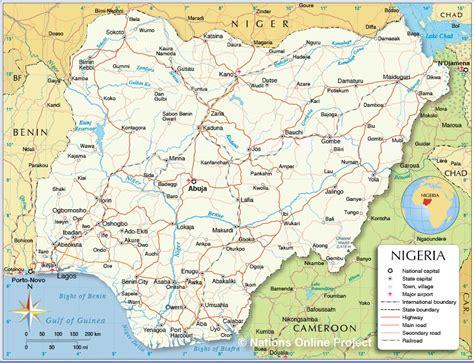 political map of nigeria ezilon maps political map of nigeria africa