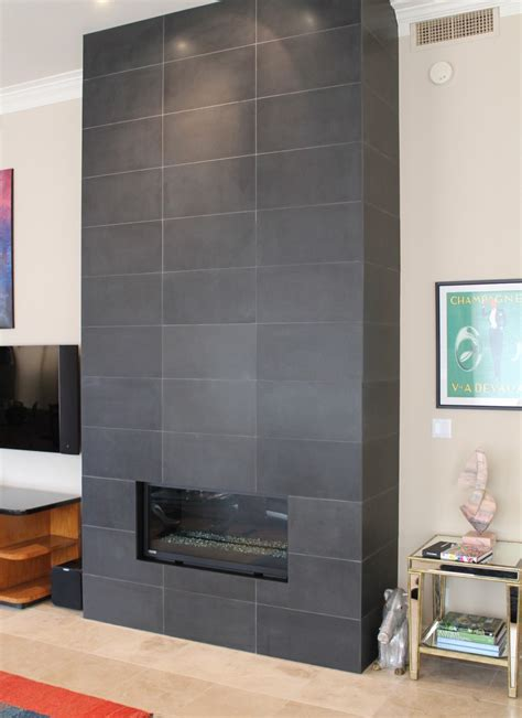 gray tile fireplace search fireplace