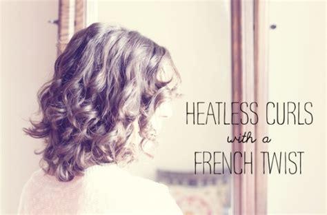 heatless curls for short hair 25 heatless french twist curls 34 honestly good heatless