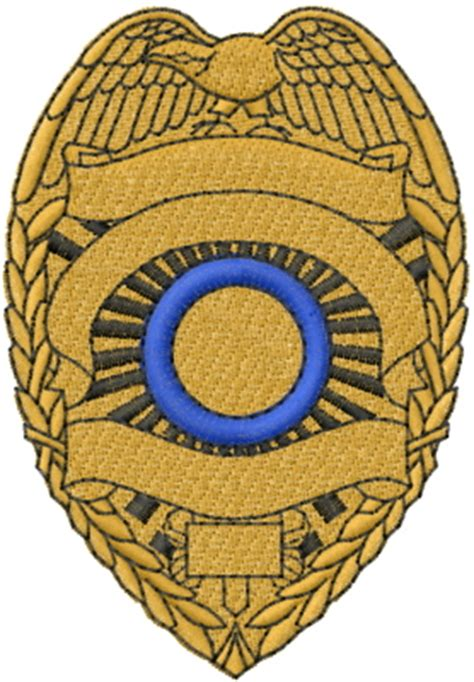 mead artworks embroidery design blank police badge 3 25