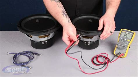 ᗔ1 pair 4 inch car ξ speaker speaker how to wire two single 2 ohm subwoofers to a 1 ohm