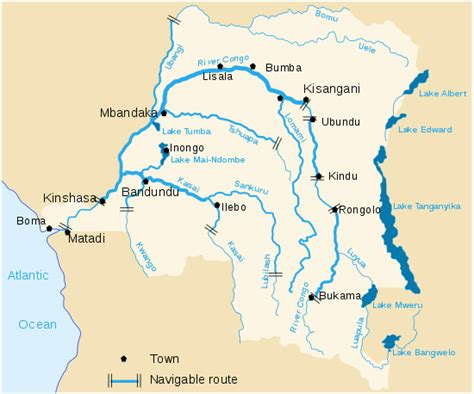 congo river map list of rivers of the democratic republic of the congo