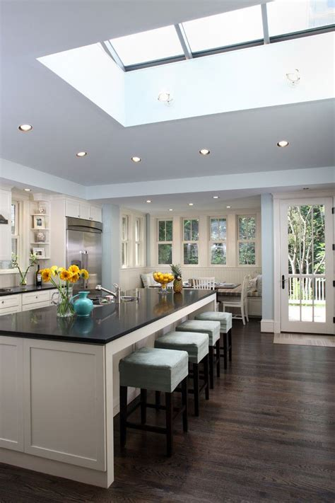 raised ceiling houzz contemporary kitchen with raised ceiling and skylight