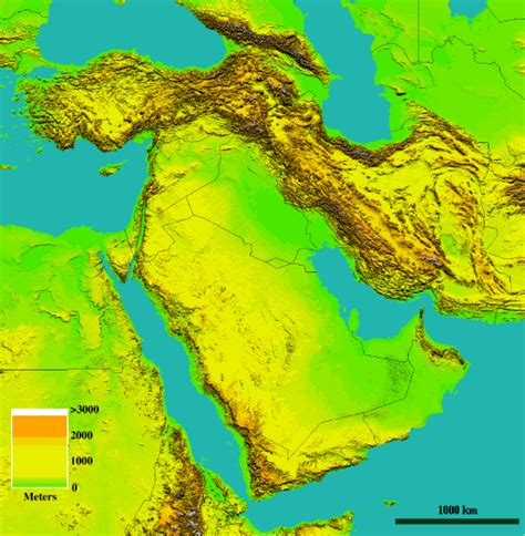 middle east elevation map building a comprehensive database for the middle east