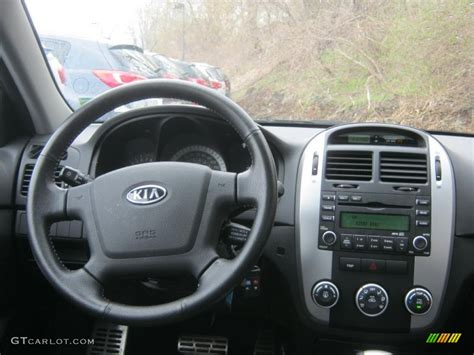 Dashboard Kia Spectra 2008 Kia Spectra 5 Sx Wagon Black Dashboard Photo