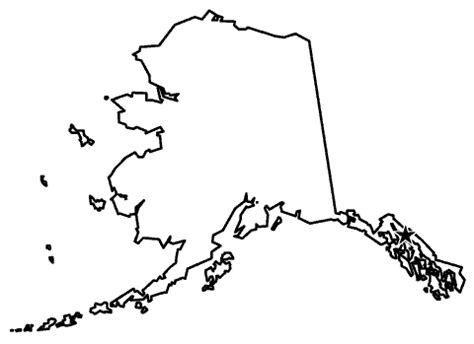 us map outline with alaska and hawaii states with the most coastline
