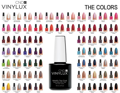 vinylux colors rainbow nails cnd vinylux lacquer products