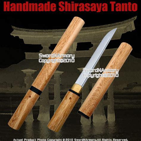 Handmade Tanto - shirasaya tanto handmade japanese samurai sword sharp