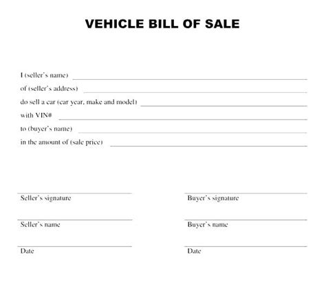 vehicle purchase receipt template vehicle sales agreement template vehicle sales agreement