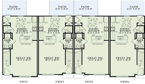 and stucco 4 plex house plan 60561nd 2nd floor