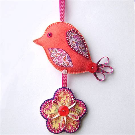 Folksy Handmade - folksy hanging bird decoration craftjuice handmade