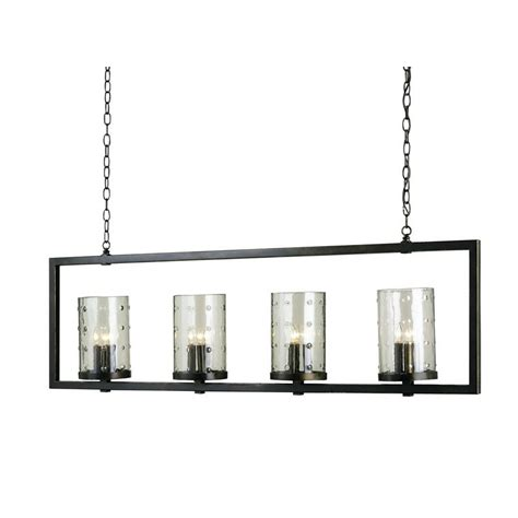 Rectangular Modern Chandelier Currey Company Longhope Rectangular Chandelier