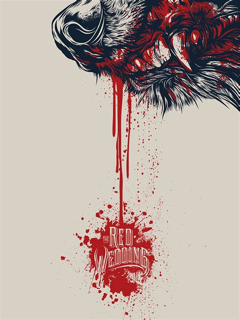 design game of thrones game of thrones red wedding illustration on behance