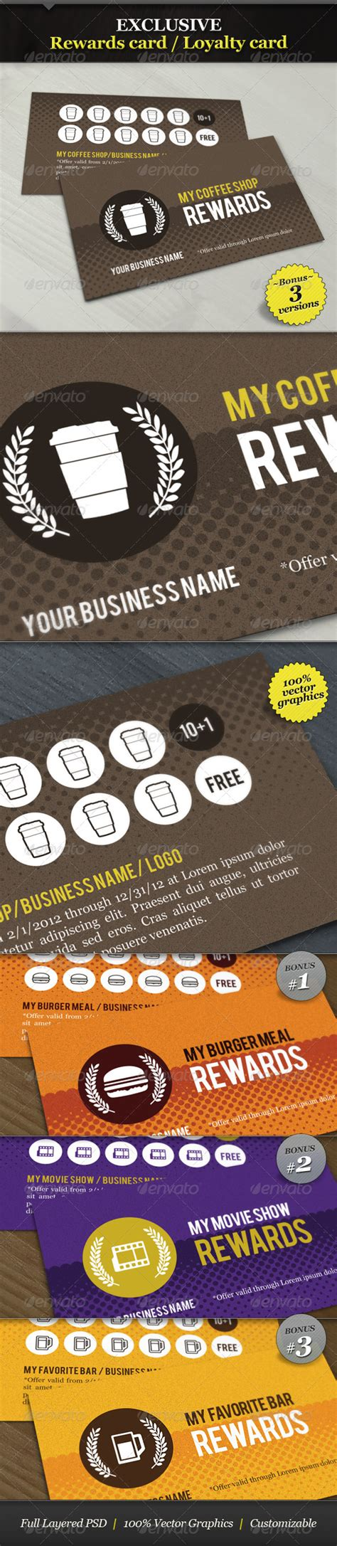 coffee shop loyalty card template 60 free premium psd business card template