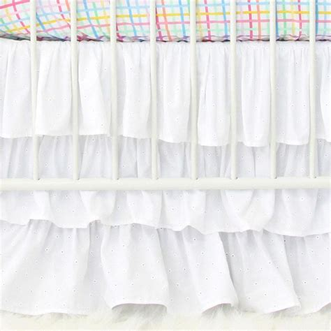 Ruffle Crib Bedding Ruffle Crib Bed Skirt Lustwithalaugh Design Calculate Fabric For Crib Bed Skirt