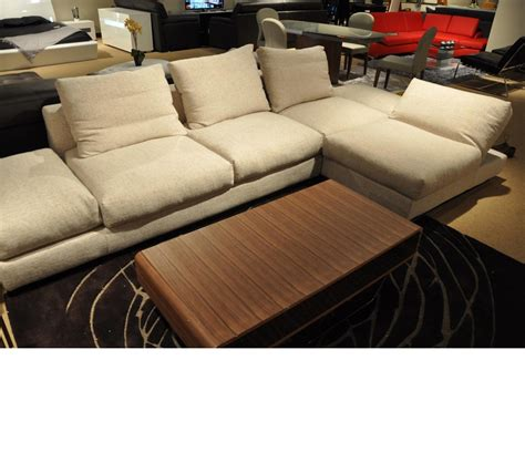 feather down sectional dreamfurniture com divani casa vasto modern fabric