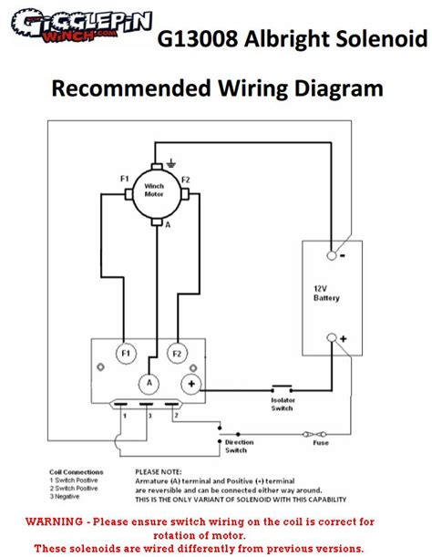warn winch solenoid wiring diagram albright wiring