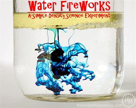 simplicity science water fireworks science experiment the crafting chicks
