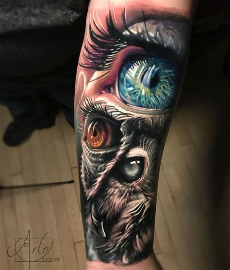 owl amp human eyes best tattoo design ideas