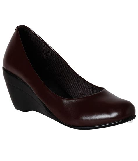 pantof brown wedge formal shoes price in india buy pantof