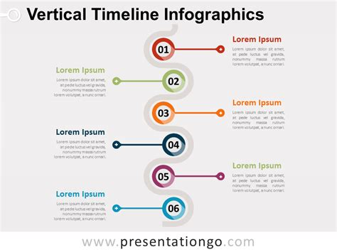 Resume Employment Goals Examples by Vertical Timeline Infographics For Powerpoint