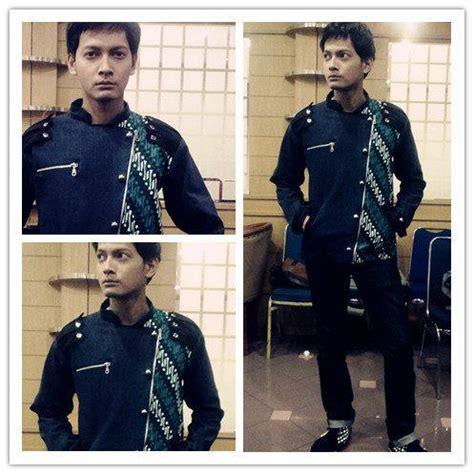 Kemeja Kenzo Hitam til gagah dengan batik jacket dari medogh