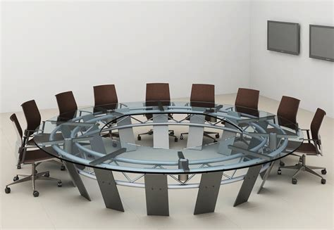 Metal Base Cabinets Radian Large Round Conference Table Stoneline Designs