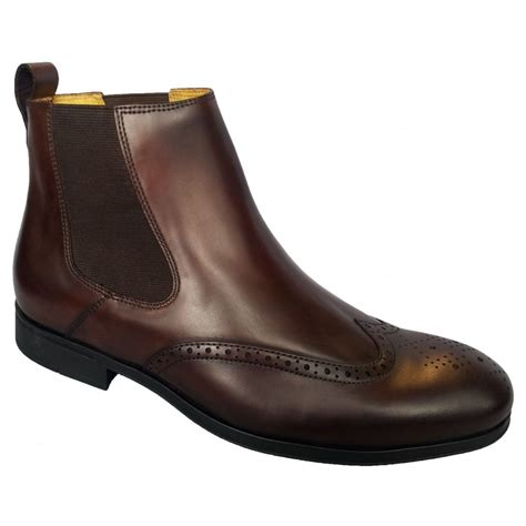 mens brown chelsea boot steptronic mens bassett brown chelsea boots