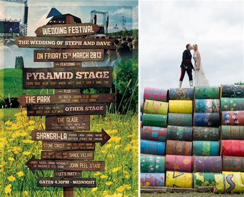 themes props glastonbury wednesday wedding inspiration glastonbury baby