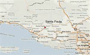 where is santa california on map santa paula location guide