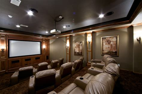 converted garage  media room traditional home
