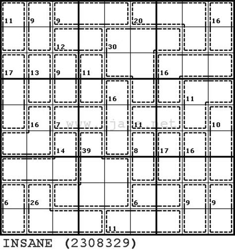 sudoku insane printable insane killer sudoku puzzles pinterest