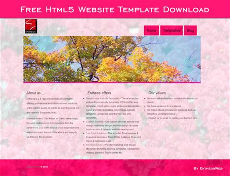 free html5 templates for dreamweaver free website templates