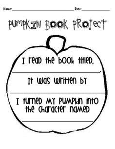 Character Parade Letter To Parents Pumpkin Story Book Characters On Book Characters Book Projects And Pumpkins