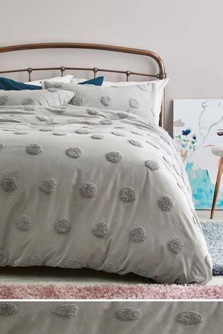 buy tufted spot duvet cover  pillowcase set    uk  shop