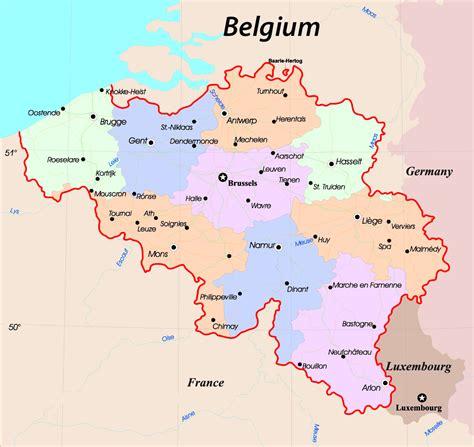 maps  belgium detailed map  belgium  english