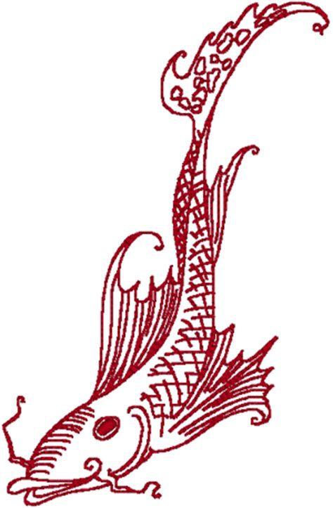 asian designs redwork asian fish embroidery design