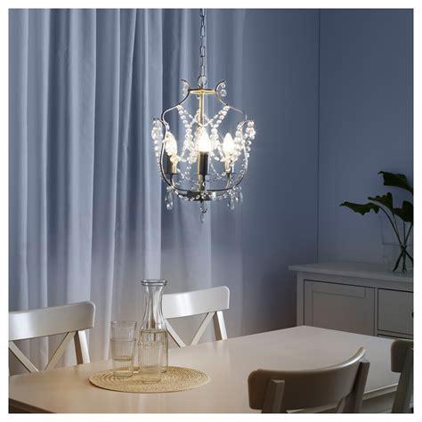 Kristaller Chandelier 3 Armed Silver Colour Glass Ikea Kristaller Chandelier