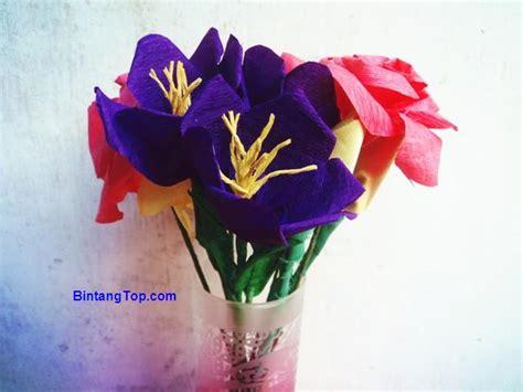 croseus flower diy  ungu cantik  kertas crepe