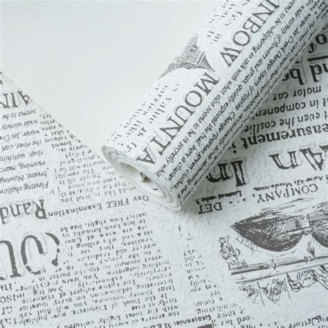 Paper From Newspaper - aliexpress buy vintage letter wall paper