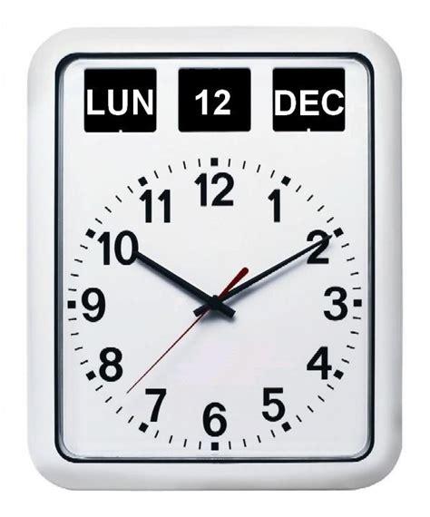 horloge murale avec date et jour pendule calendrier perpetuel 1001 pendules