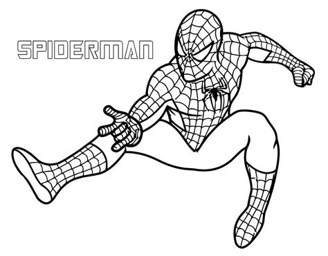 printable coloring pages for superheroes download spiderman superhero coloring pages for free