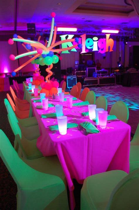 quinceanera themes glow in the dark glow in the dark theme it s a rave life for me pinterest
