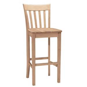 Unfinished Wood Bar Stool Empire 30 Inch Unfinished Wood Bar Stool International Concepts Bar Height 28 To 36 Inch